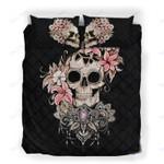 Custom Bedding Floral Skull Bedding Set