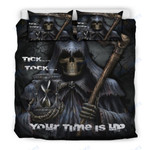 Skull Custom Bedding Tick...Tock...Your Time Is Up Bedding Set