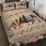 Custom Bedding Horses - God Says You're Bedding Set