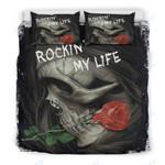 Custom Bedding Skull Rockin' My Life Bedding Set