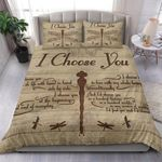 Custom Bedding Dragonfly - The Beginning And End Of Everyday Heart Bedding Set
