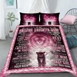 Custom Bedding Personalized Name Lion To My Amazing Daughter Bedding Set - Gift for Daughter