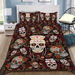 Custom Bedding Nurse Sugar Skull Bedding Set