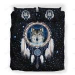 Custom Bedding Wolf Dream Catcher Galaxy Bedding Set