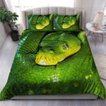 Custom Bedding Green Tree Python Bedding Set
