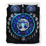 Custom Bedding Libra Astrology Moon Phases Neon Sign Bedding Set