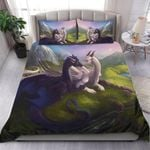 Custom Bedding Black & Blue Dragons Bedding Set