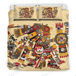Mexico Custom Bedding Best Aztec God Pattern Bedding Set