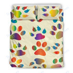 Custom Bedding Dog Paw Bedding Set