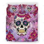 Custom Bedding Mexicano Skull Flowers Bedding Set