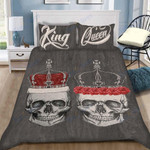 Custom Bedding Skull Bedding Set With 2 Queen and King Print Pillow Cases Couples