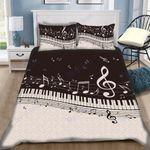 Custom Bedding B&W Piano Music Note Bedding Set