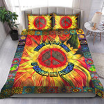 Custom Bedding Hippie Every Little Thing Is Gonna Be Alright Sunflower  Bedding Set