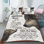 Custom Bedding Personalized Name Wolf To My Daughter Comforter Set Duvet Cover Bedding Set - Gift for Daughter #77343