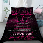 Custom Bedding Personalized Name To My Daughter Comforter Set Duvet Cover Bedding Set - Gift for Daughter #67106