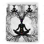 Custom Bedding Tree Of Life Meditating Inspirational Pentagram Chakra Bedding Set