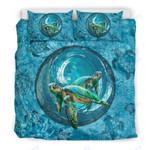 Custom Bedding Blue Ocean Turtle Bedding Set
