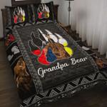 Custom Bedding Native American - Grandpa Bear Bedding Set