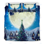 Custom Bedding Merry Christmas Tree - Santa Claus Bedding Set