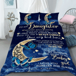 Custom Bedding Personalized Name To My Daughter Comforter Set Duvet Cover Bedding Set - Gift for Daughter