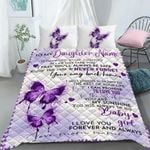 Custom Bedding Personalized Name To My Daughter Bedding Set - Gift for Daughter