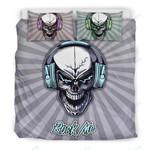 Custom Bedding Rock Me Skull Bedding Set for Music Freaks