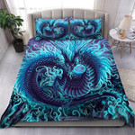 Custom Bedding Blue Dragon Art Bedding Set