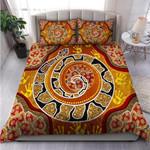 Custom Bedding Aboriginal Bedding Set - Snake Painting Art