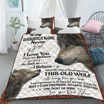Custom Bedding Personalized Name Wolf To My Daughter Bedding Set - Gift for Daughter