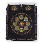 Custom Bedding Celtic Sabbat Pentacle Wheel Of The Year Bedding Set
