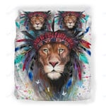 Custom Bedding Lion Boho War Bonnet Bedding Set