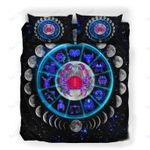 Custom Bedding Cancer Astrology Moon Phases Neon Sign Bedding Set
