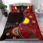 Custom Bedding Aboriginal Bedding Set - Australia Flag Dot Painting