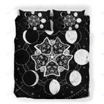 Custom Bedding Black Cat Head Wicca Moon Bedding Set