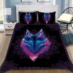 Custom Bedding Wolf Purple Bedding Set