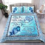 Custom Bedding Dolphin - I Choose You Watercolor Bedding Set