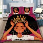 Custom Bedding African American Black Queen Girl Personalized Name Bedding Set