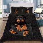 Custom Bedding Rottweiler Pocket Bedding Set