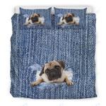 Custom Bedding Pug Break The Wall Bedding Set