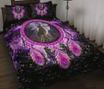 Custom Bedding Native American Wolf Violet Bedding Set