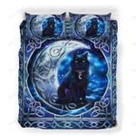 Custom Bedding Black Cat Crescent Moon Bedding Set