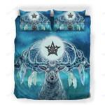 Custom Bedding Deer Winter Moon Pentagram Bedding Set