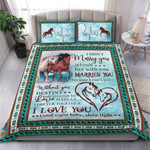 Custom Bedding Horse - Blue Destiny Made Us A Couple Bedding Set