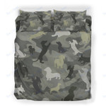Custom Bedding Dachshund Camouflage Bedding Set