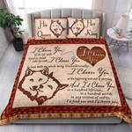 Custom Bedding Wolf - I Choose You Couple Bedding Set