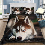 Custom Bedding Red Husky Bedding Set
