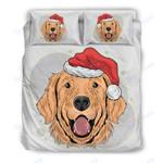 Custom Bedding Have A Golden Christmas for Golden Retriever Lovers Bedding Set
