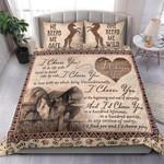 Custom Bedding Couple Horse I Choose You Bedding Set