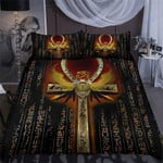 Custom Bedding Egyptian Ankh Scarab Bedding Set