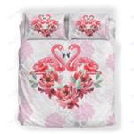 Custom Bedding Floral Flamingo Bedding Set